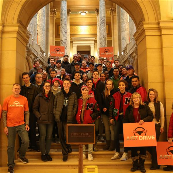 More than 40 MHS students traveled to the state Capitol Feb. 22 for a safe driving rally