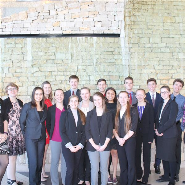 Monticello DECA had 18 students compete at the district competition in February