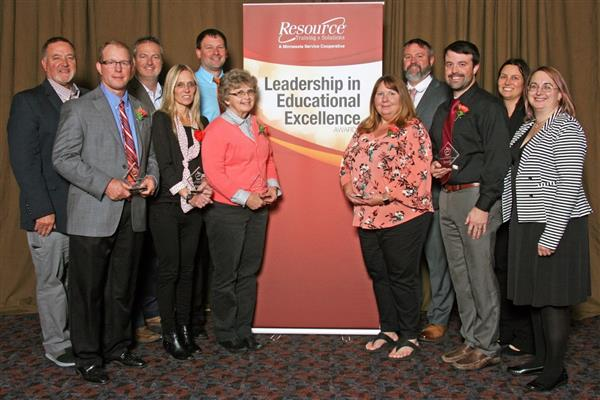 Five Monticello educators were recognized for their outstanding work at the Resource Training & Solutions LEEA ceremony.