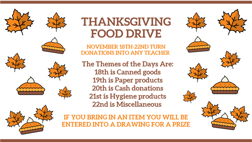 MHS Thanksgiving Food Drive