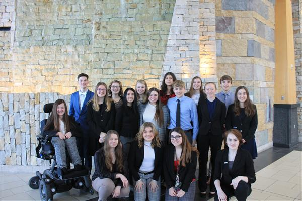 DECA Students Compete at District Competition