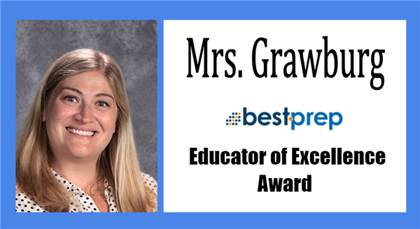 MHS Business Teacher Kari Grawburg awarded Best Prep Educator of Excellence Award