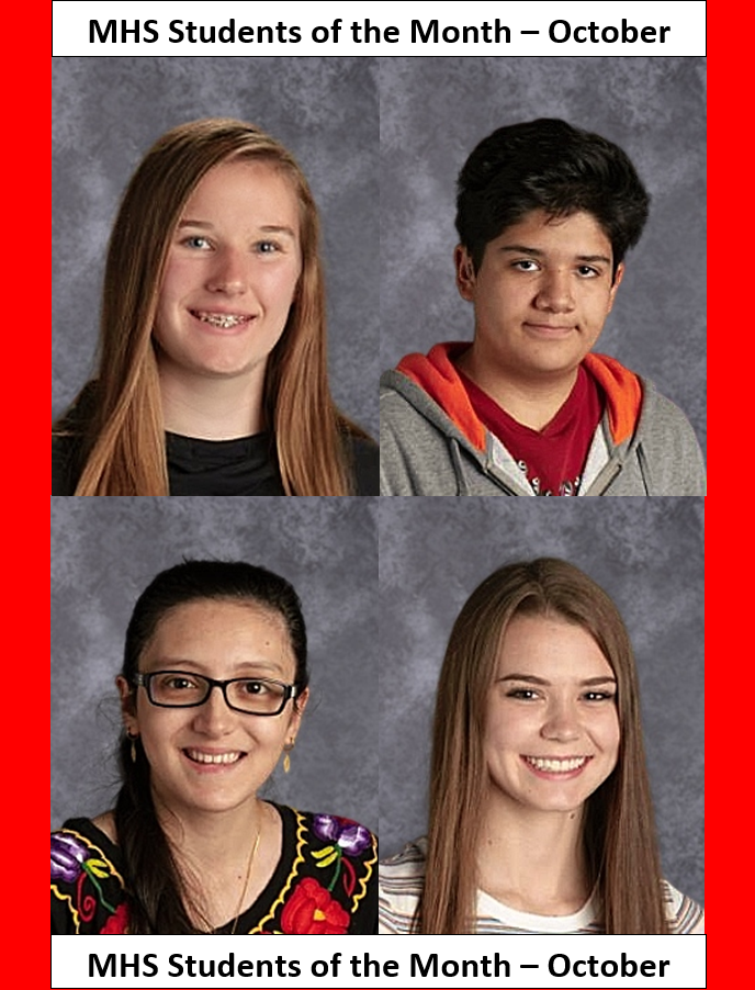 MHS Students of the Month October 2019