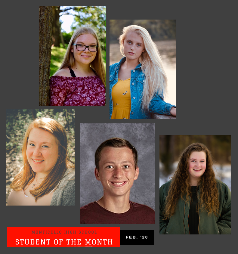MHS Students of the Month- February 2020