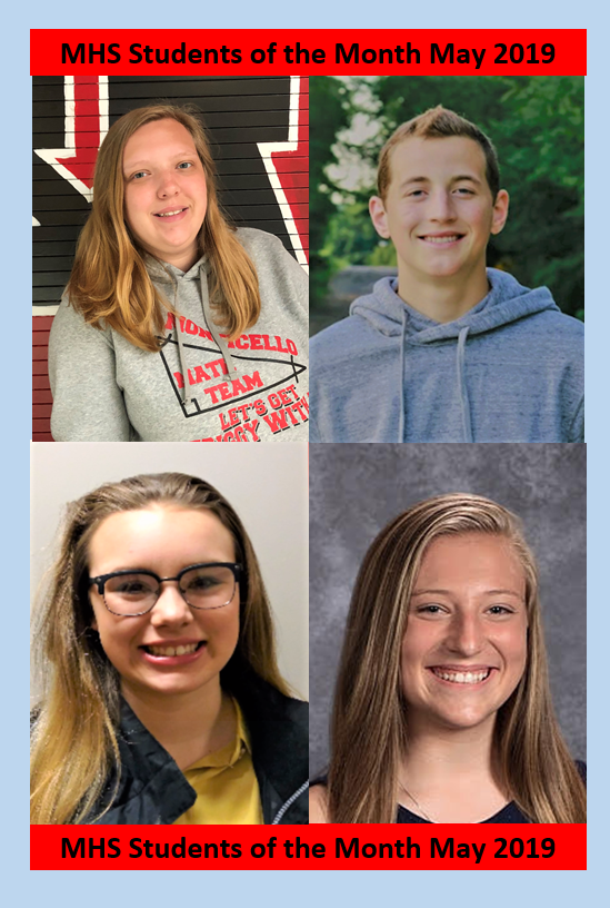 MHS Students of the Month   May 2019