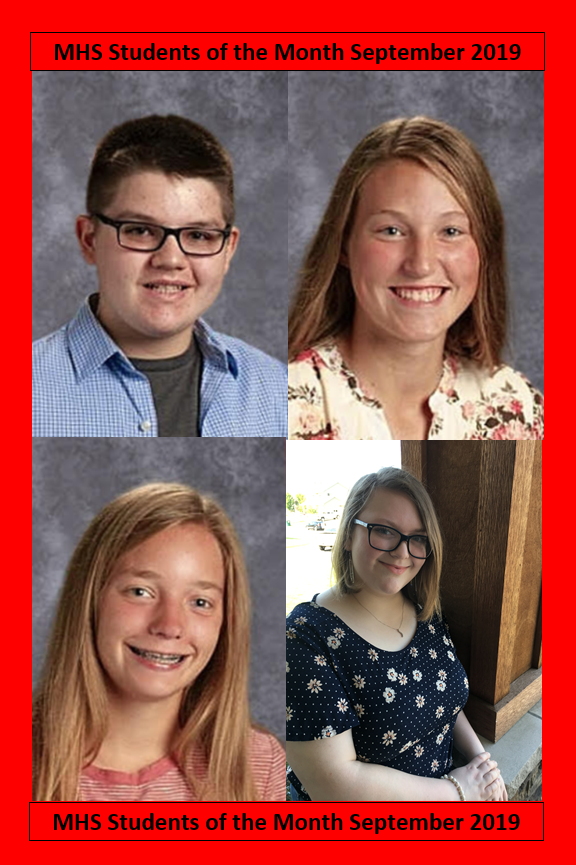 MHS Students of the Month September 2019