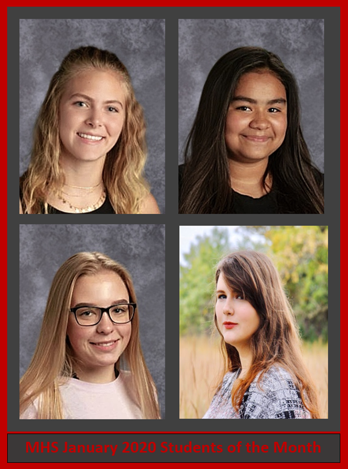 Students of the Month- January 2020